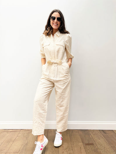 SEC.F Selene Jumpsuit in White Swan