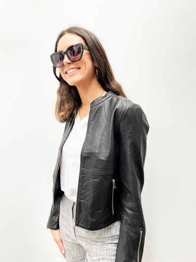 SLF Fibi Leather Jacket in Black