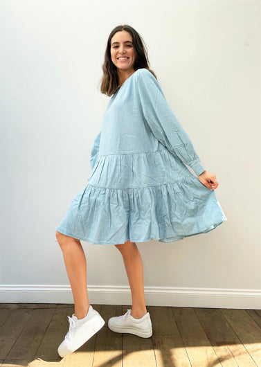 SLF Gilli Short Dress in Light Blue