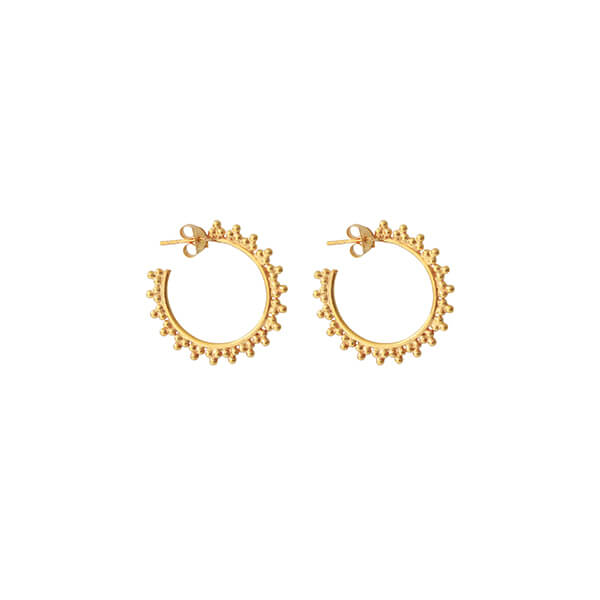 I AM JAI 1650A Small hoop ball earring in gold