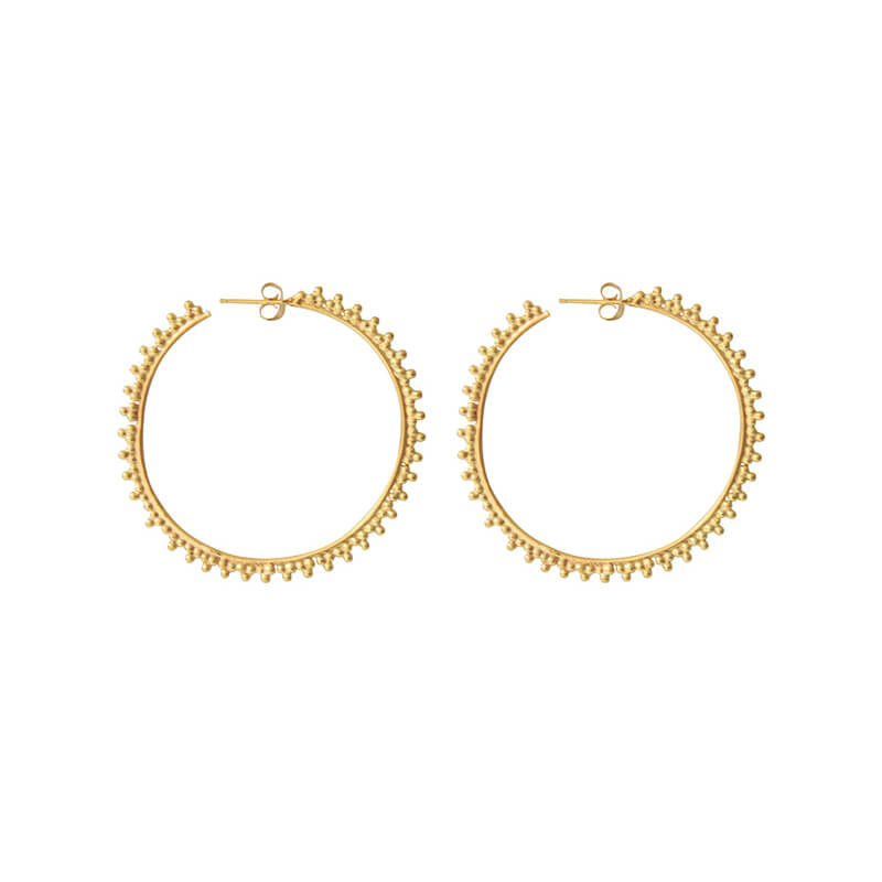 I AM JAI 1650 Big hoop earring with ball