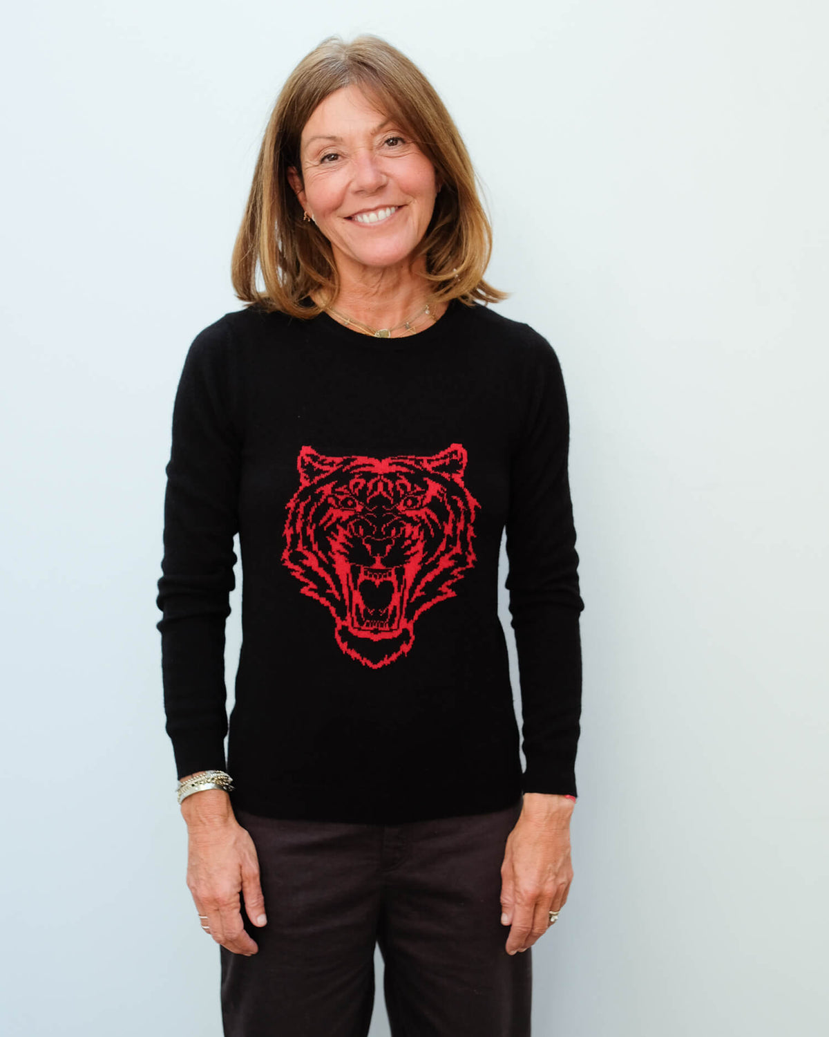 JU Lion crew in black and red