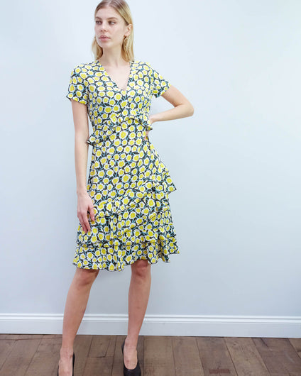 DVF Glenys dress in daisies canteen
