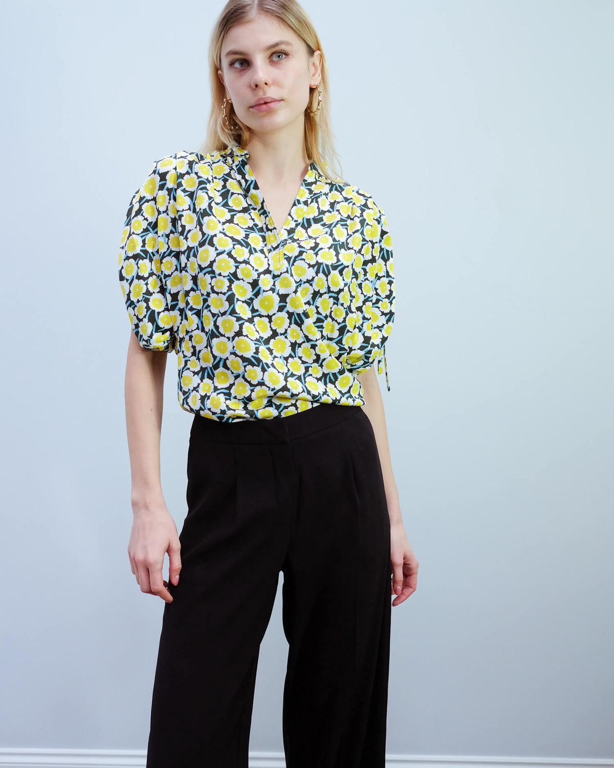 DVF Grania top in daisies canteen