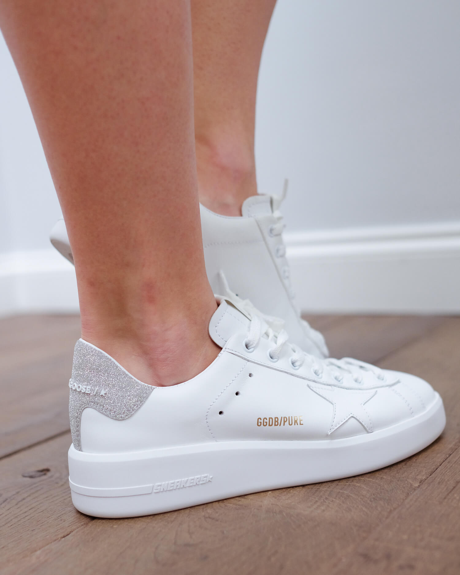 GG Pure star 603 in white with glitter heel
