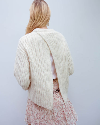BMB Nosema knit in soft white