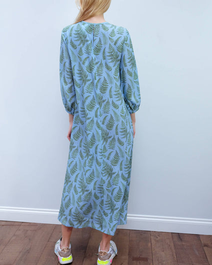 MM Medusa printed dress in blue