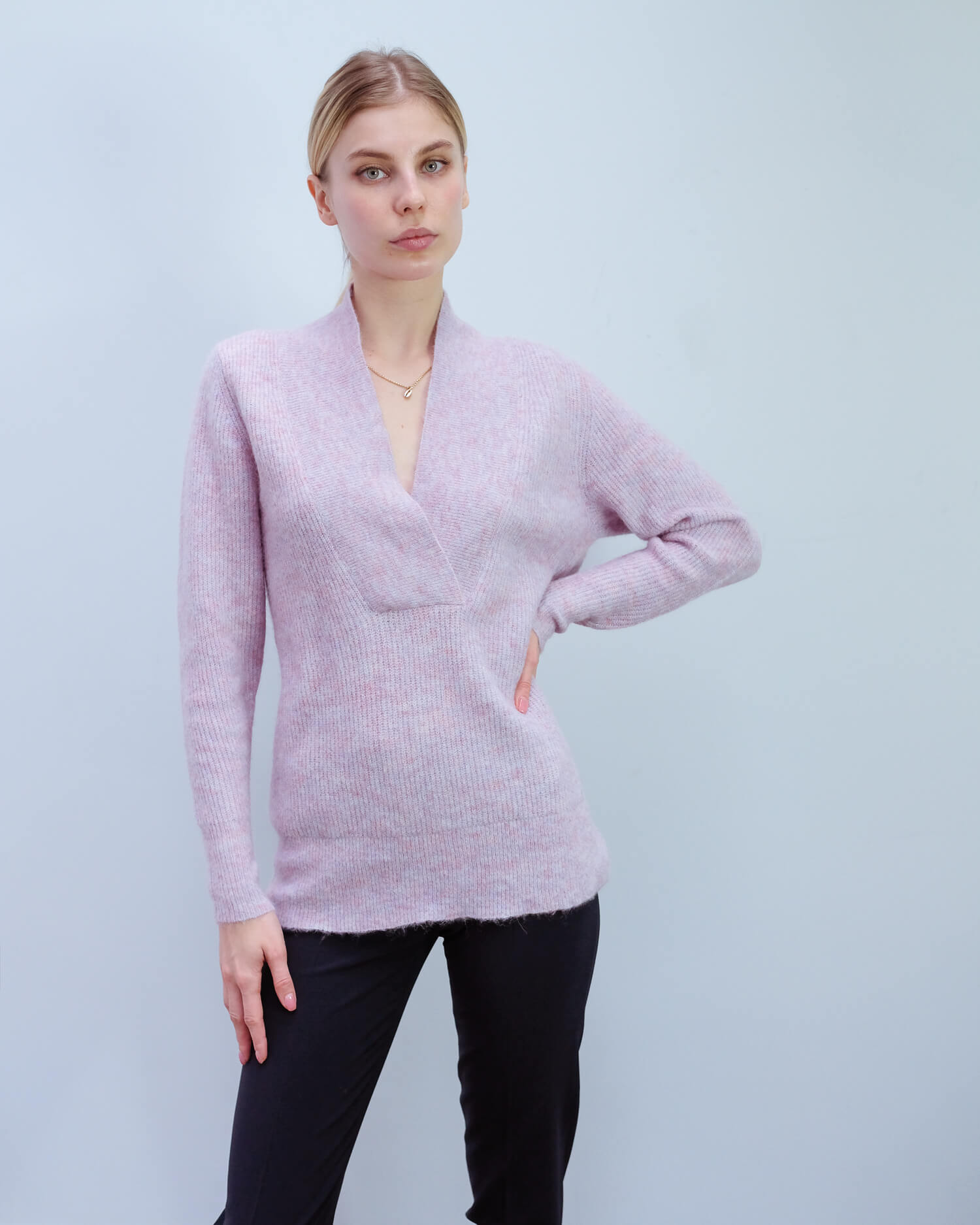 SLF Sif LS deep V in heather rose
