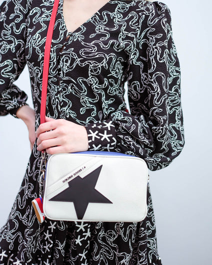 GG Star bag white with blue red