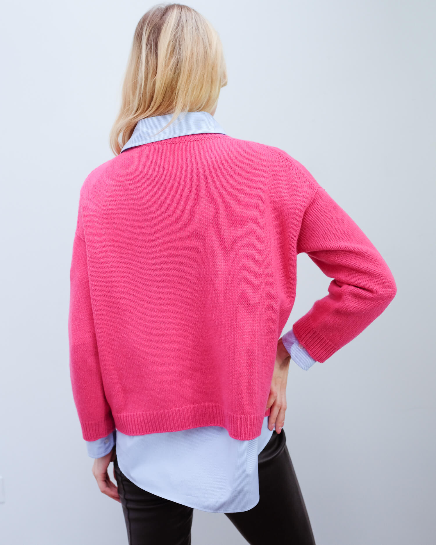 MM Zoraide cashmere knit in red