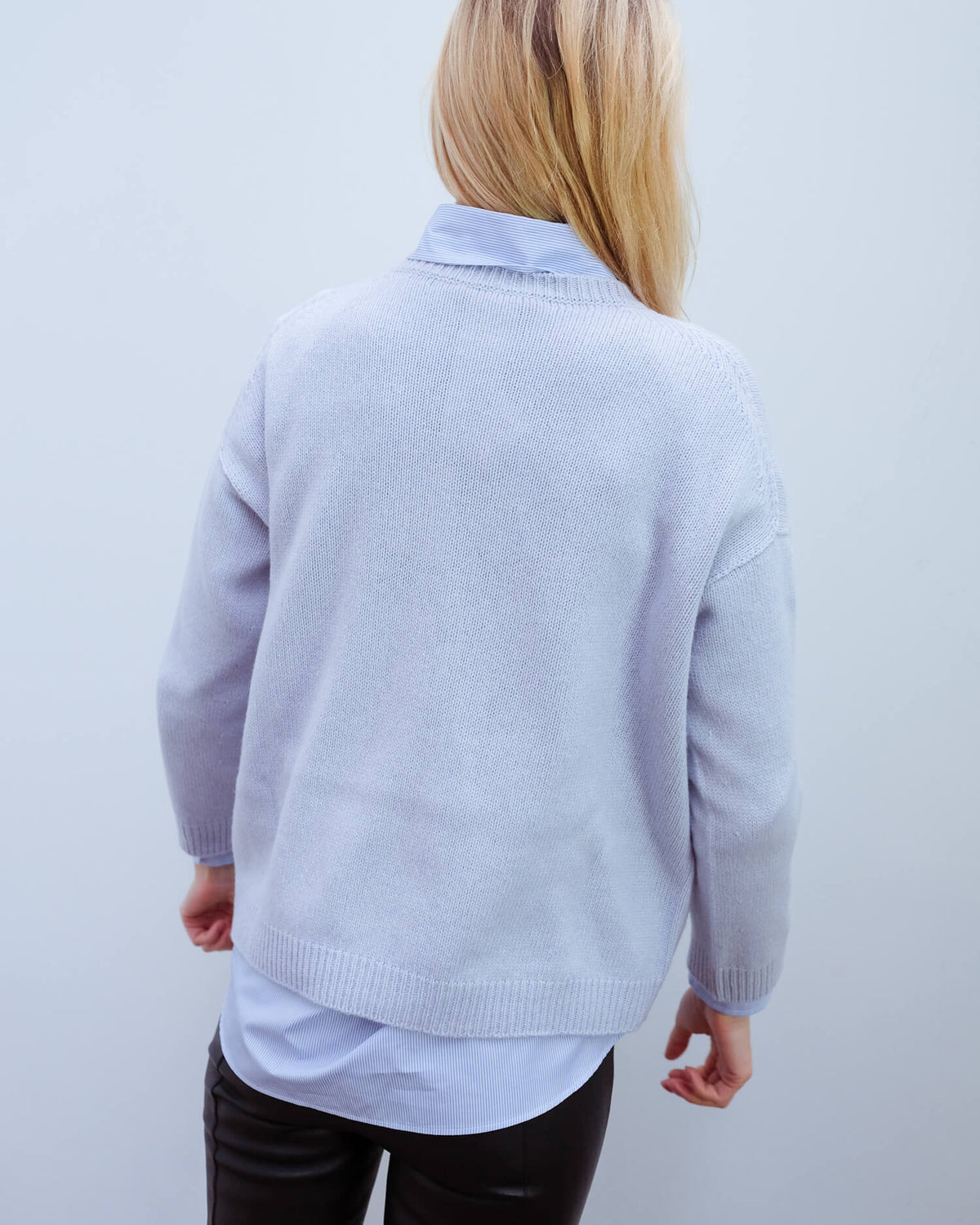 MM Zoraide cashmere knit in blue