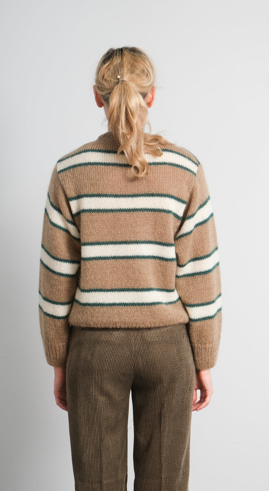 LOR Franja stripe knit in sand