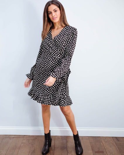EA Vodolfo wrap dress in black
