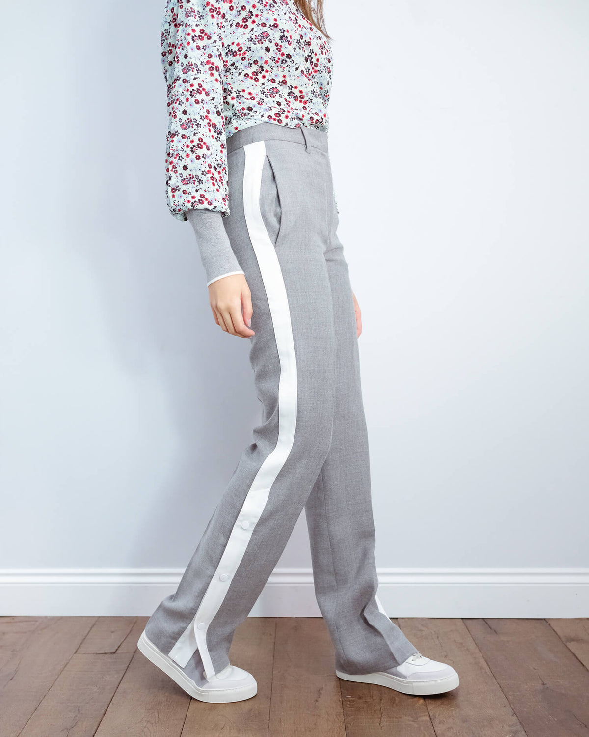 EA Vowels contrast panel pants in belgian block