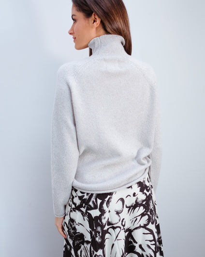 JU Lurex winter sweat in cream
