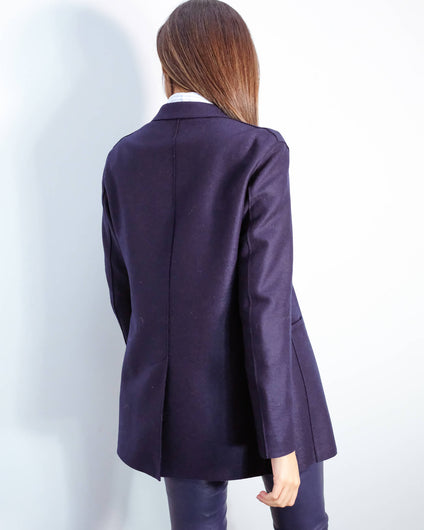 HWL Pressed wool blazer in navy blue
