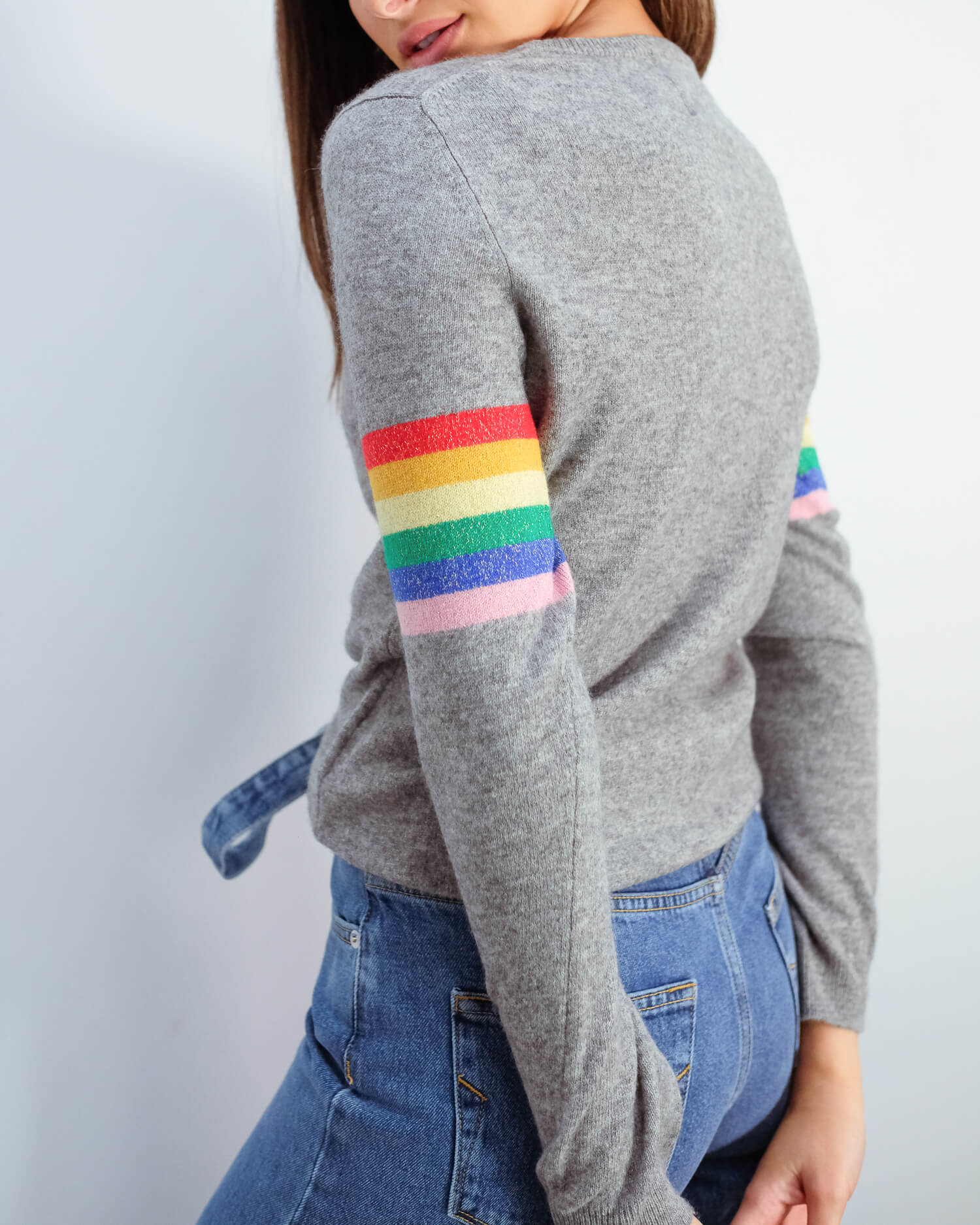 JU Lurex stripe rainbow
