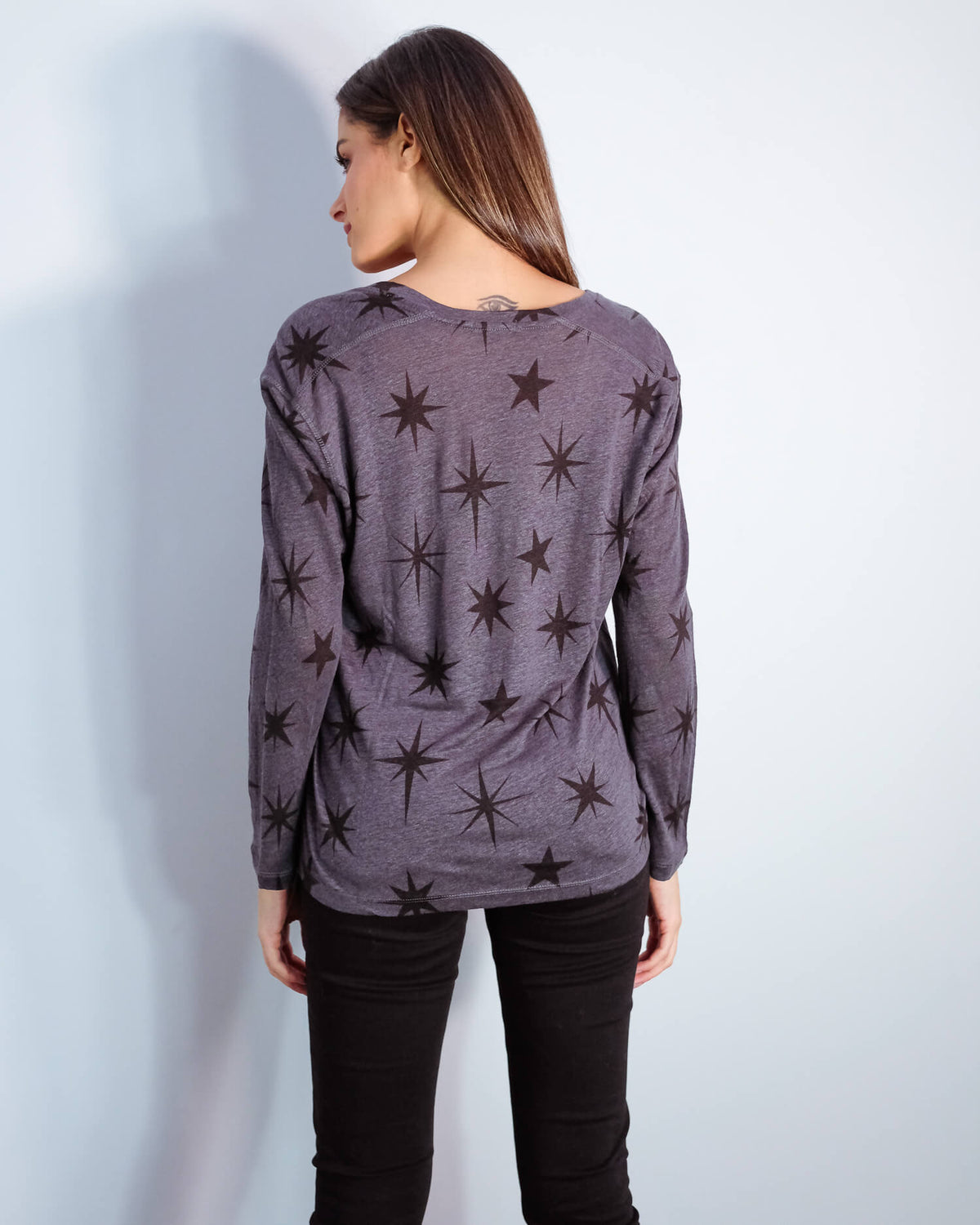 R Sami top in charcoal