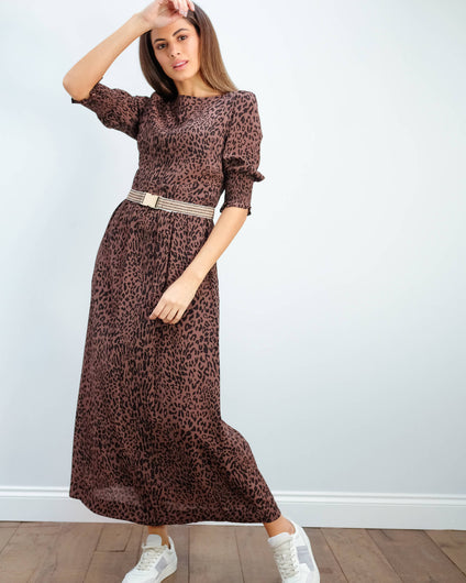 BUP Aiden dress in leopard