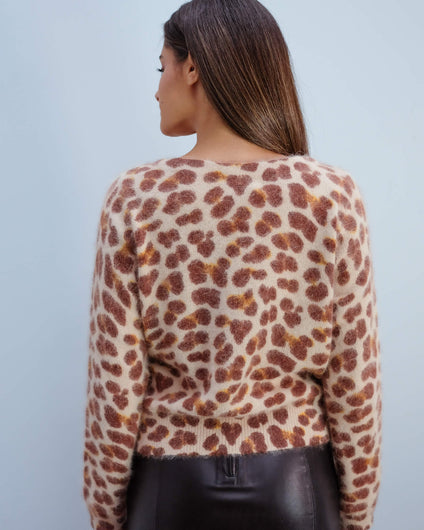 BR Dato animal print top