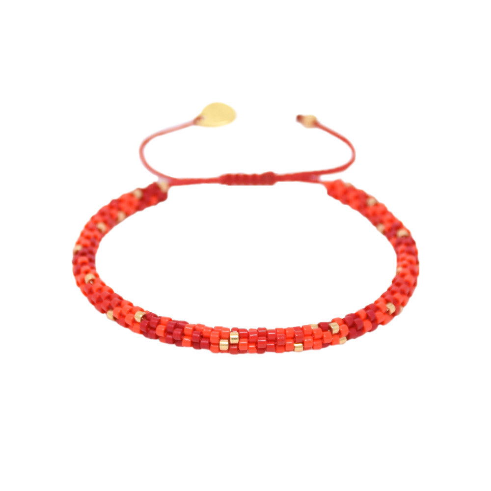 MISHKY Rainbow hoopys in red