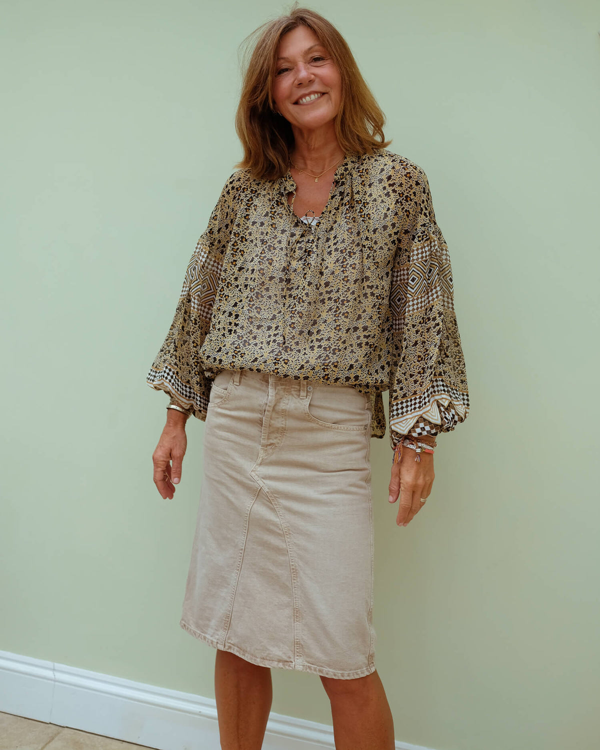 M Mission blouse in sienna