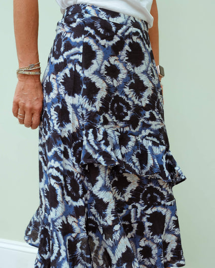 M Move ruffle skirt in blue