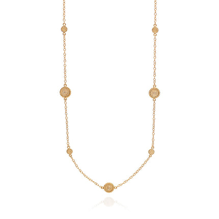 AB 10090 Mosaic circle necklace in gold
