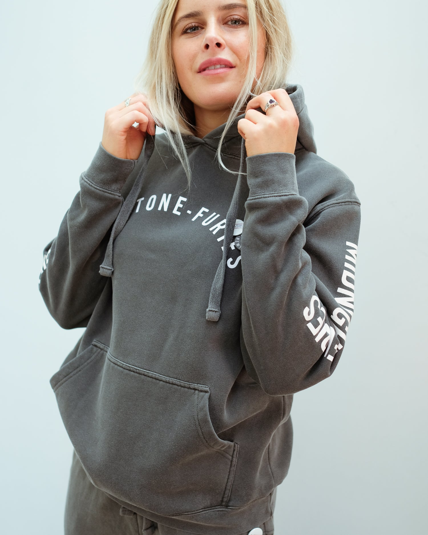 NT Furies Printed Hoodie in Pepper