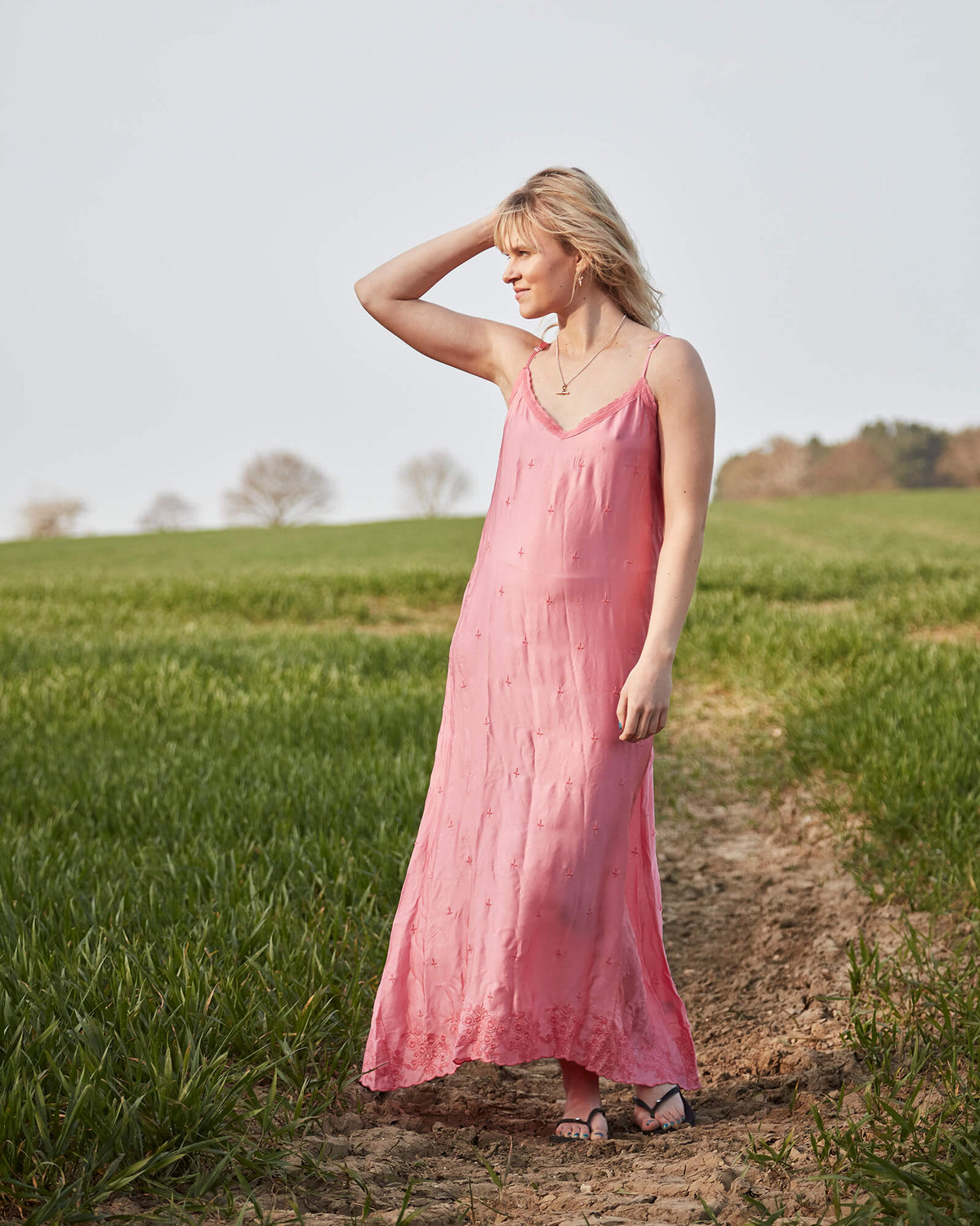 OS Antoinette slip dress in sunset