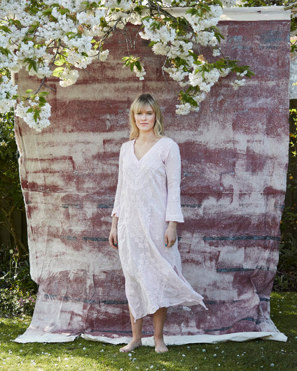 OS Goa dress long in pale pink