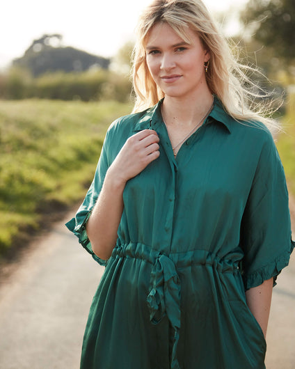 OS Jasmine dress in emerald
