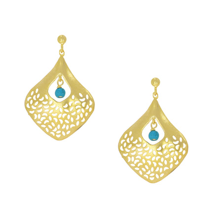OTTOMAN CL3 Gulzar earrings in turquoise