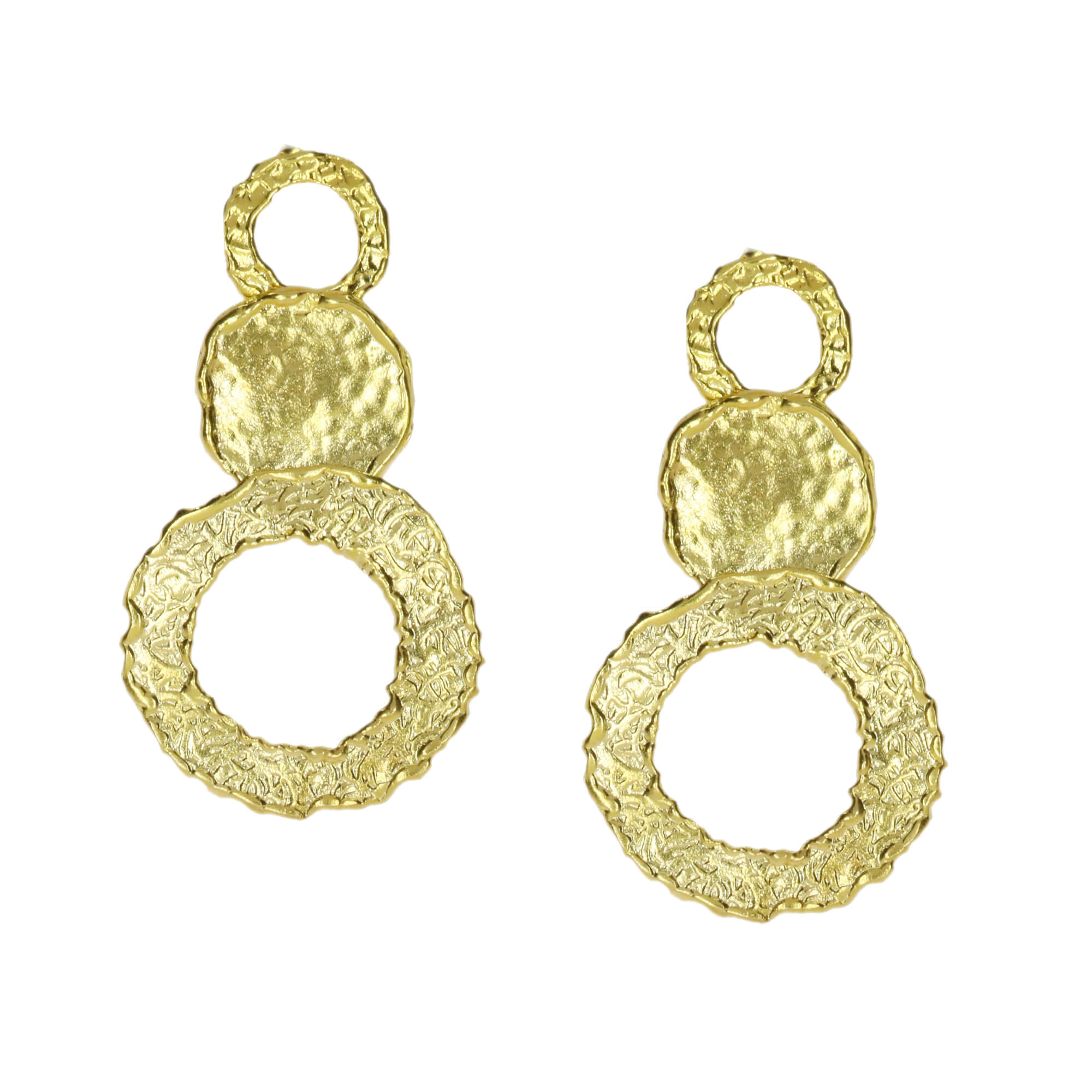 OTTOMAN DI08 Circles earrings in gold