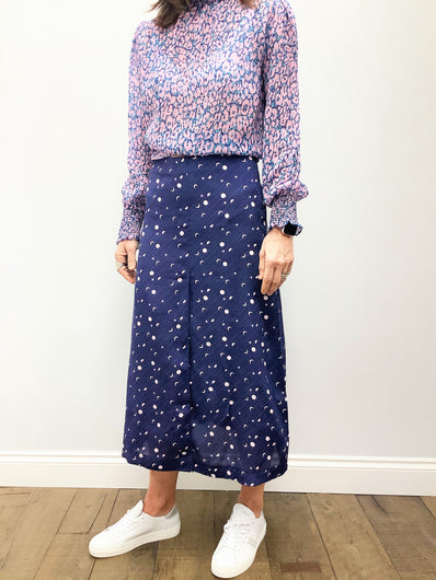 PPL Lauren Skirt in Magic Moons 02 in Midnight Blue
