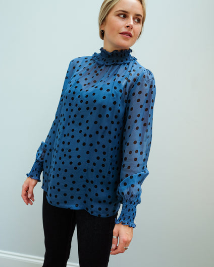PPL Tracy top in dotty 02 blue