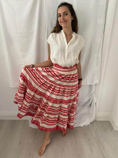 P&C Maxi skirt in red