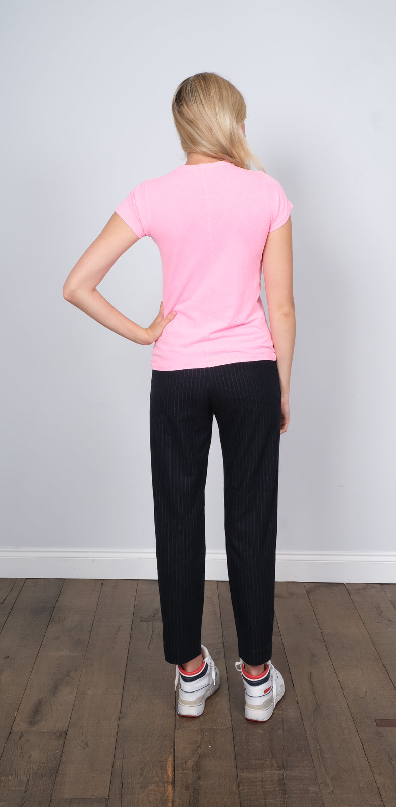 R&B The Slub Classic Tee in bright pink