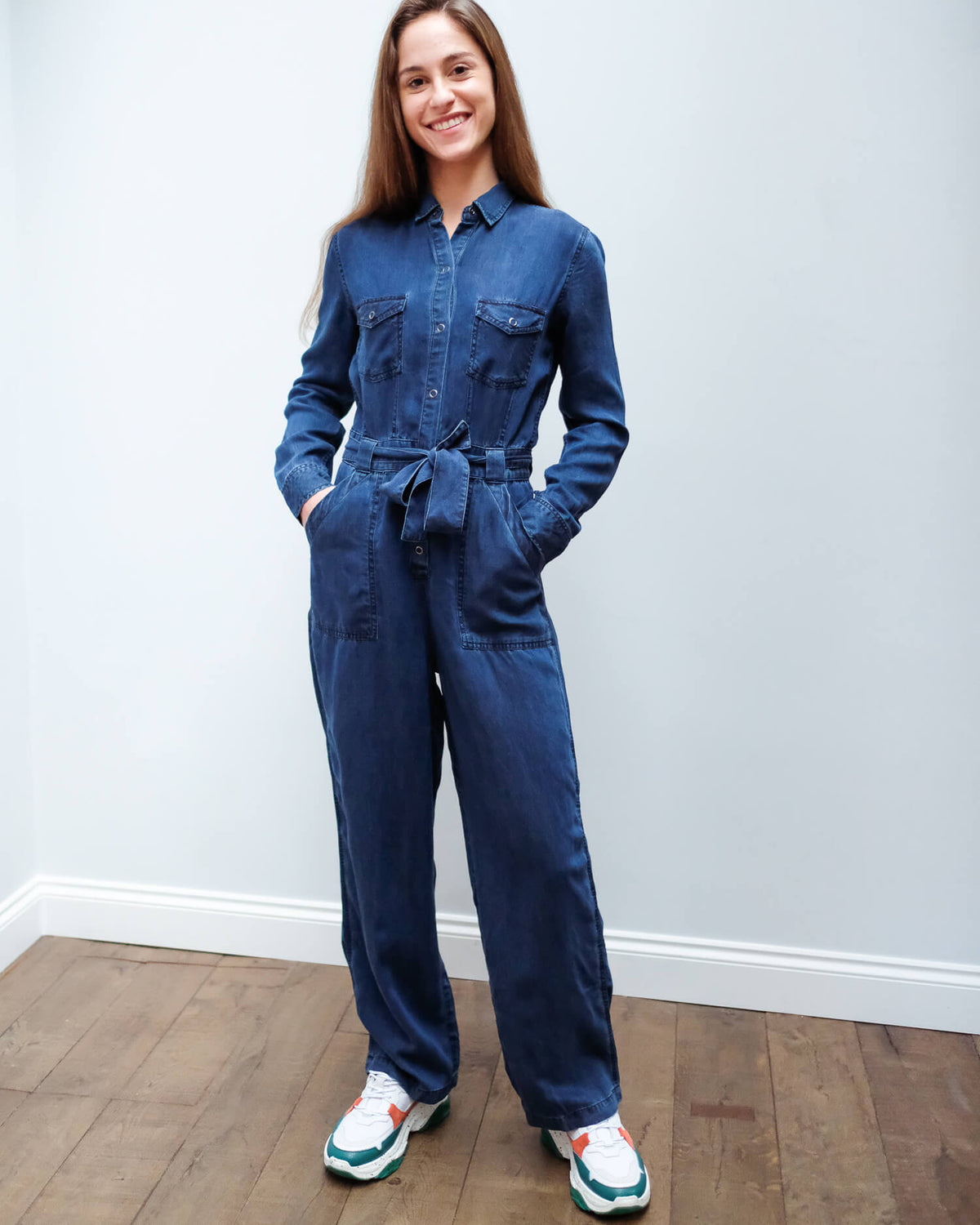 R Kenley jumpsuit in dark vintage
