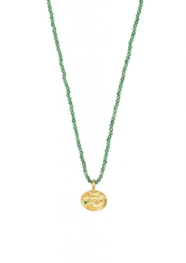 HERMINA Sealstone animal emerald crystal necklace