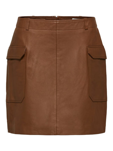 SLF Weekend Leather Skirt in Toffee