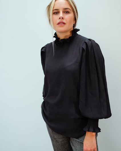 SEC.F Florenza Blouse in Black