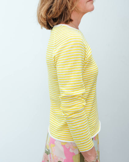 SLF Astrid stripe knit in empire yellow