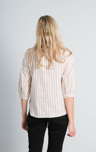 SLF Lilo stripe top in curds + whey