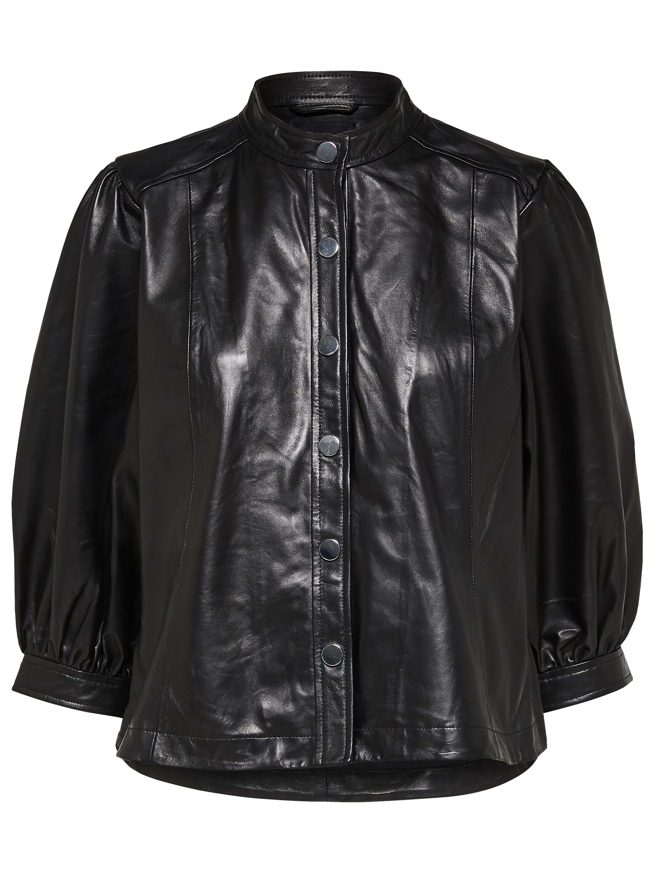 SLF Milla leather shirt in black