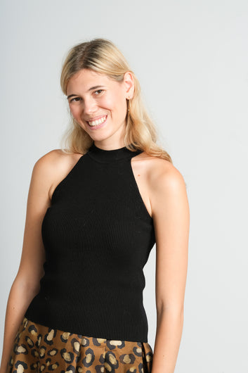 SLF Solita knit top in black