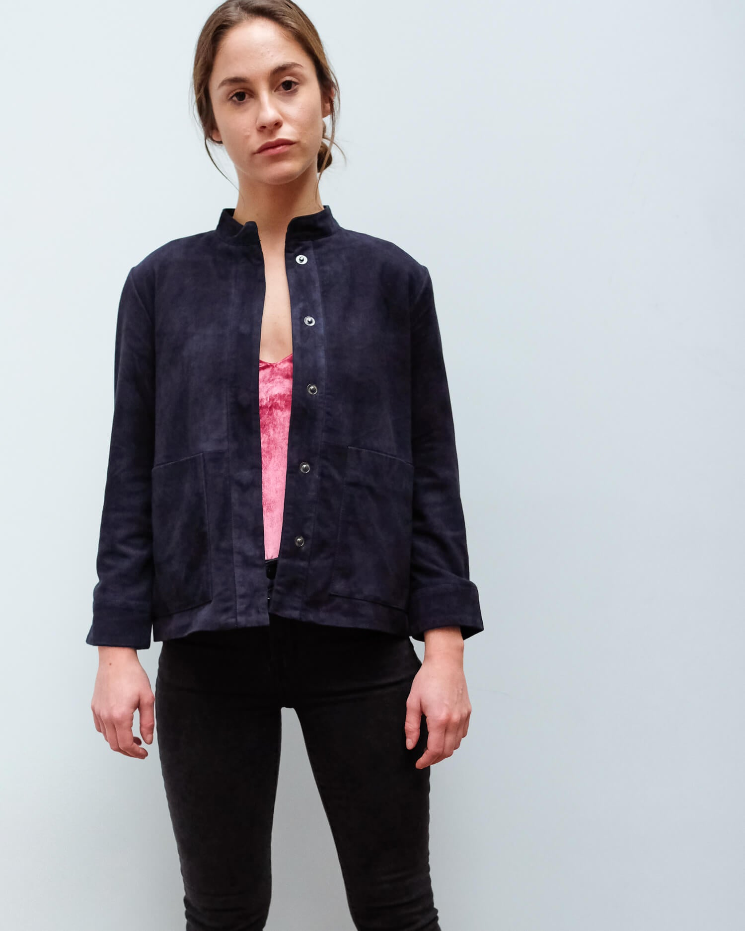 SLF Alia suede shirt in night sky