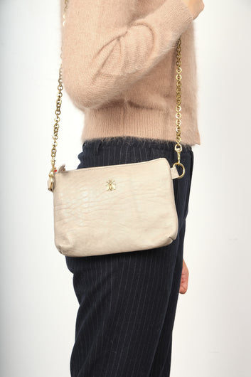 SLP Chapala bag in pearl with bee motif