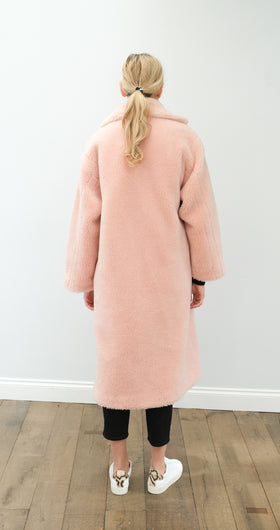 STAND Maria coat in pale blush