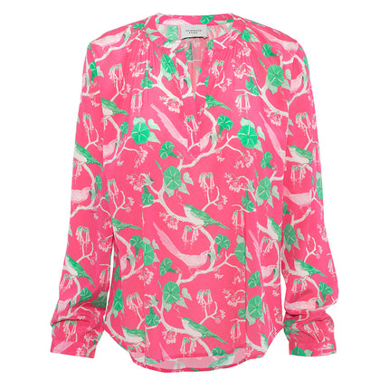 PP Sandy silk shirt in pink glorious